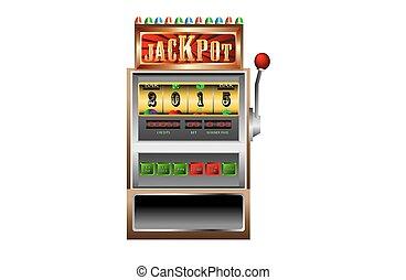 new year 2015 in slot machine