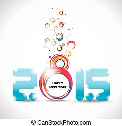 New year 2015 in white background.