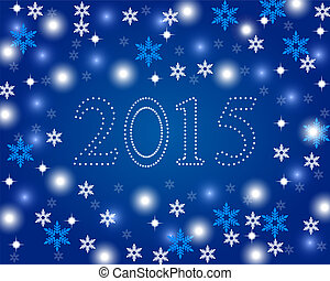 New Year 2015 on a blue background
