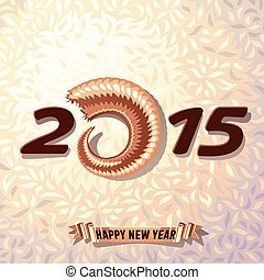 New Year 2015 on wool background - Vector illustration of...