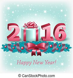 New Year 2016 and christmas decoration