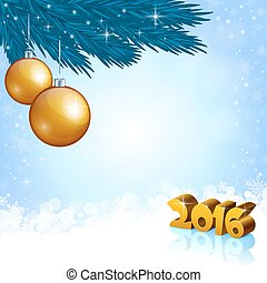 New Year 2016 and X-mas decoration