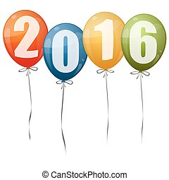 New Year 2016 balloons