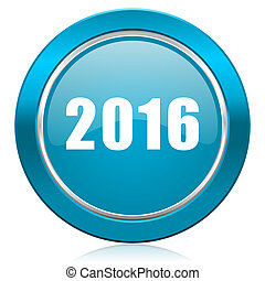 new year 2016 blue icon new years symbol
