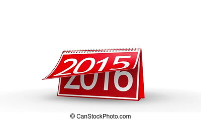 New Year 2016 Calendar (with Matte) - Calendar turning page...