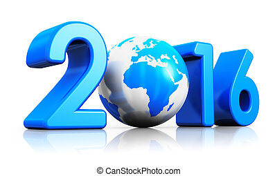 New Year 2016 concept - Creative abstract New Year 2016...