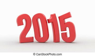 New Year 2016 isolated on white background