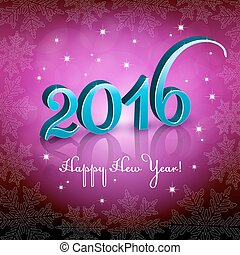 New Year 2016 Pink background