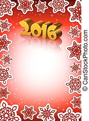 New Year 2016 red background