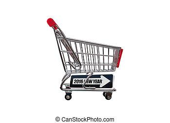New Year 2016 Shopping Cart