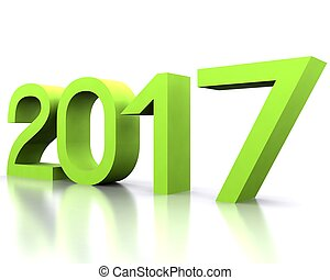 New year 2017 - 3D background with new year coming - 2017