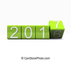 new year - 2017 - 3D background with new year coming - 2017