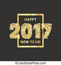 New Year 2017 celebration background with confetti