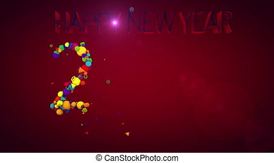 """New Year 2017 Festive Balls"" - ""A festive 3d rendering of..."