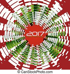 New year 2017 - Graphic background for the new year coming -...