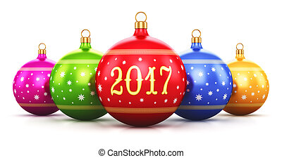 New Year 2017 holiday concept