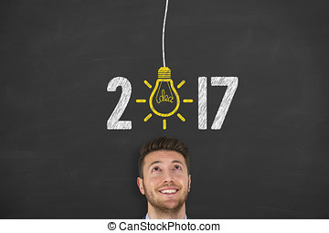 New Year 2017 Idea Concept