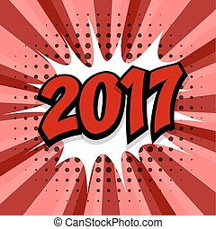 New year 2017 red background
