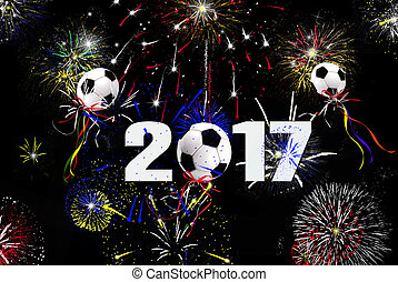 New Year 2017 soccer balls - soccer ball balloons and...