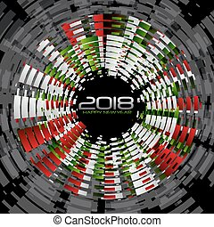 New year 2018 - Abstract background for the arrival of new...