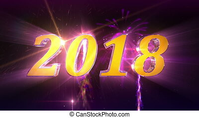 New Year 2018 Animation in 4K - High quality 2018 New Year...