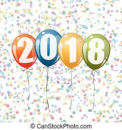 New Year 2018 balloons
