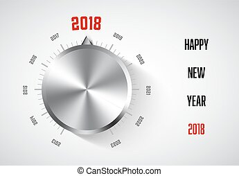 New year 2018 card template