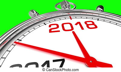 New Year 2018 Clock (Green Screen) - Clock countdown from...