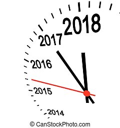 new year 2018 clock