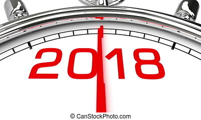 New Year 2018 Clock (with Matte)