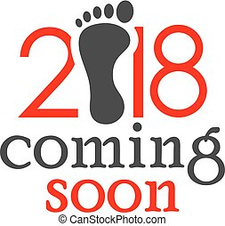 New year 2018 coming soon vector card