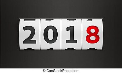 New year 2018 counter #2 - Design component of a counter...