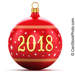 New Year 2018 holiday concept - Creative abstract New Year...