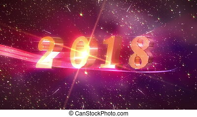 New Year 2018 opening Animation - High quality 2018 New Year...