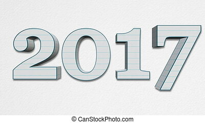 New Year 2018 Replacing Old Year 2017 - Paper Letters - New...