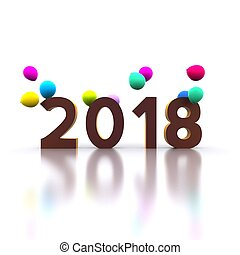 New Year 2018 - Happy New Year 2018 - 3D
