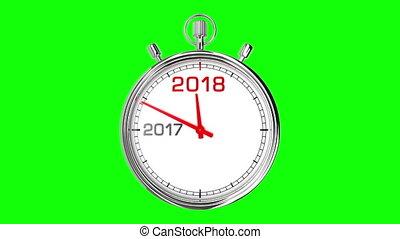 New Year 2018 Stopwatch (Green Screen) - Stopwatch countdown...