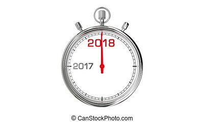 New Year 2018 Stopwatch (with Matte) - Stopwatch countdown...