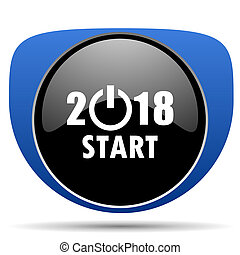 New year 2018 web icon
