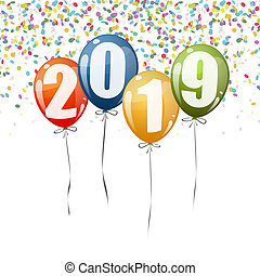New Year 2019 balloons