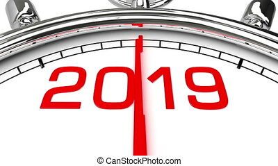New Year 2019 Clock (with Matte)