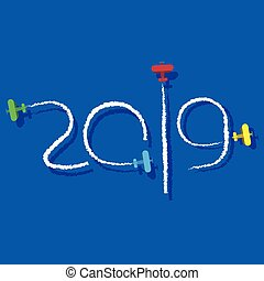 New Year 2019 concept