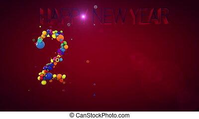 """""""New Year 2019 Hilarious Balls"""" - """"A congratulatory 3d..."""