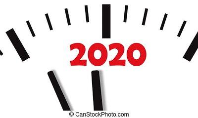 New Year 2020 Clock. Clock countdown to 2020.