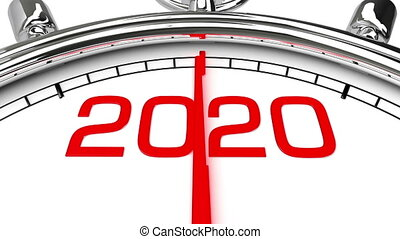 New Year 2020 Clock (with Matte) - Countdown from year 2019 ...