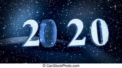 New Year 2020 - New year 2020 with glowing background (...
