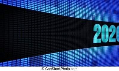 New Year 2020 Side Text Scrolling LED Wall Pannel Display...