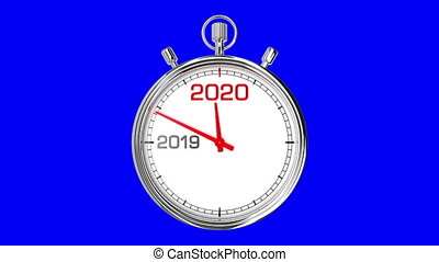 New Year 2020 Stopwatch (Blue Screen) - Countdown from year ...