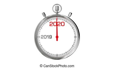 New Year 2020 Stopwatch (with Matte) - Countdown from year...