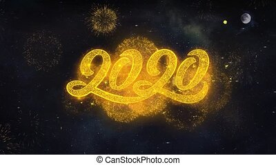 New Year 2020 Text Wishes Reveal From Firework Particles...